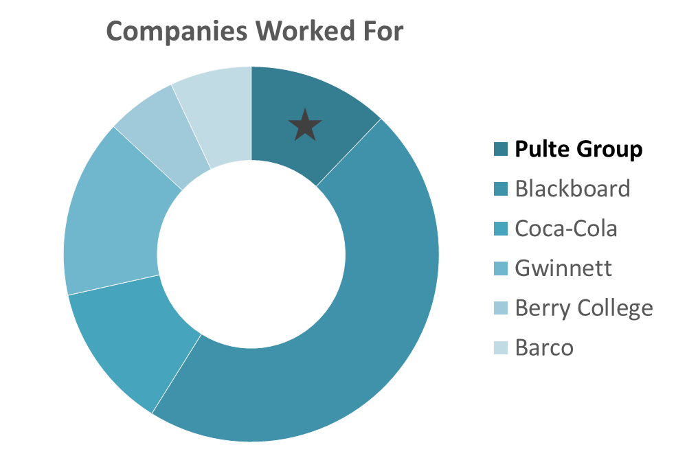 Companies Worked For Summary